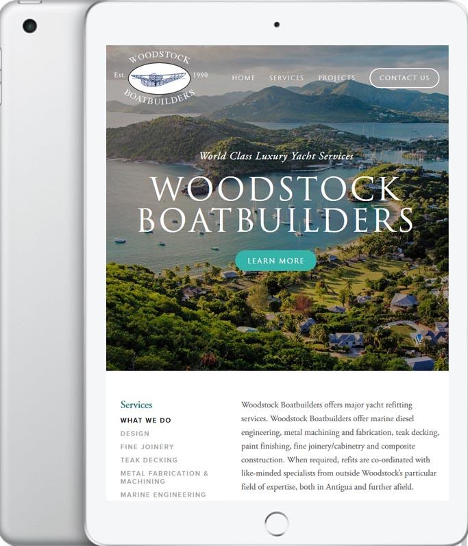 Woodstock Boatbuilders Ipad Design