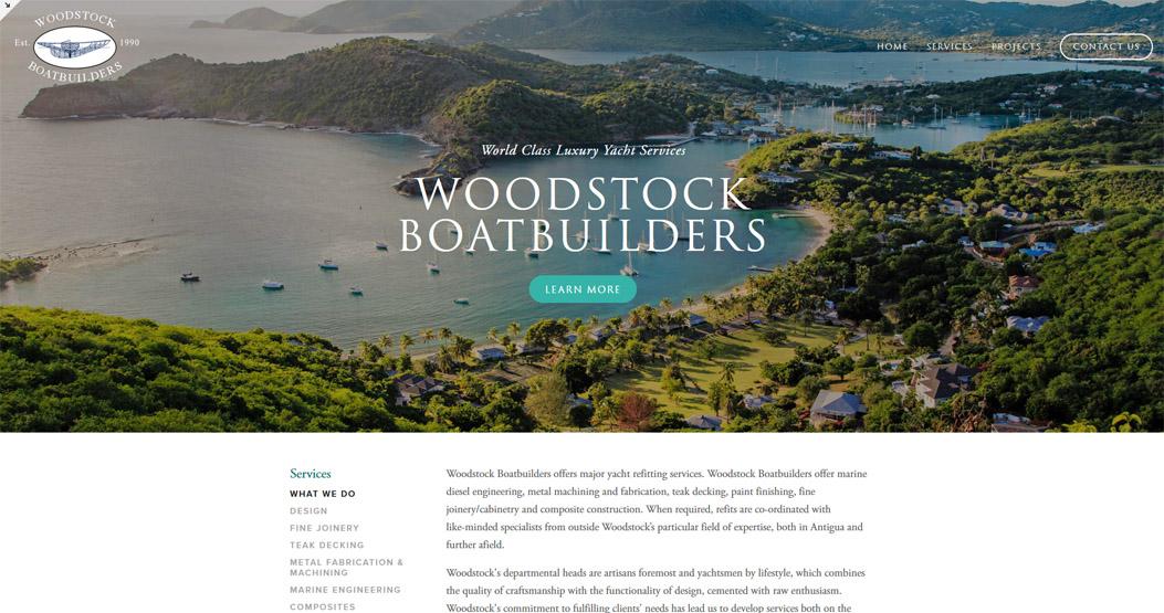 Woodstock Boatbuilders Web Design